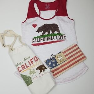 California Bundle Tank, Tote & Beverage Bag